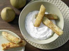 Knusprige Kohlrabi-Sticks mit Estragonquark | Kalorien: 340 Kcal - Zeit: 30 Min. | http://eatsmarter.de/rezepte/knusprige-kohlrabi-sticks