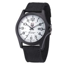 Men's army watches Date Stainless Steel Military Sports Analog Quartz