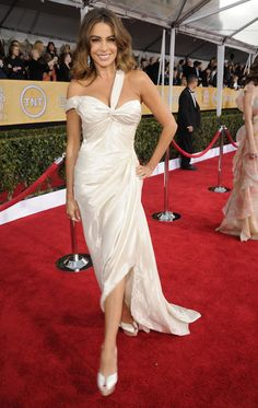 Check out the best red carpet looks from the 2013 SAG Awards!  Sofia Vergara in Donna Karan