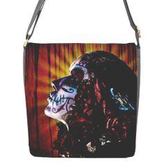 Dia de los Muertos Catrina messenger bag by AndyHartmark on Etsy, $41.99