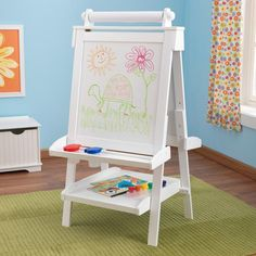 Creativity, functionality and style come together in KidKraft's Deluxe Wood Easel. With classic lines that will enhance any room or play setting, KidKraft's Del