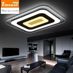 Cheap rectangular ceiling lamp, Buy Quality ceiling lamp directly from China led modern Suppliers: Super thin led modern minimalist living room lights rectangular ceiling lamps bedroom lamp lamp durable Restaurant Ceiling Design Living Room, Bedroom False Ceiling Design, Living Room Lighting, Design Bedroom, Modern Led Ceiling Lights, Led Ceiling Lamp, Ceiling Fixtures, Warm Bedroom, Bedroom Lamps