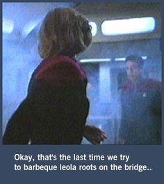 What happened at Neelix's cookout. Nerd Stuff, Funny Stuff, Captain Janeway, Star Trek Voyager, Random Things, Dreams, Humor, Shit Happens, Coffee