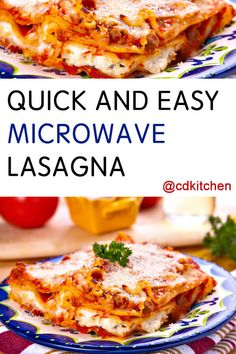 The microwave makes this classic-style lasagna a breeze  | CDKitchen.com