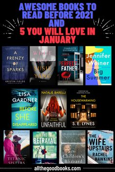 Awesome Books to Read Before 2021 and 5 To Read In January - ALL THE GOOD BOOKS Good Books, Books To Read, Unfollow Me, The Rival, Gone For Good, Historical Fiction, Love Book, Book Worms, January