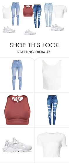 """""""..."""" by asiaa74 on Polyvore featuring Sans Souci, WithChic, NIKE, Rosetta Getty and Topshop"""