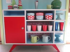 retro cabinet finished by little woollie, via Flickr