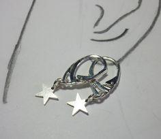 Ohrhänger - Silberohrringe Silberstern - ein Designerstück von sibea bei DaWanda