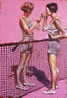 Retro tennis. by Igor Shulman