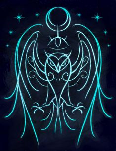 "sigilseer: ""Sigil to Invoke Owl Magic For anyone who has an owl familiar or who wants to enhance owl qualities in themselves, like wisdom, intuition, and the ability to see that which is hidden. """