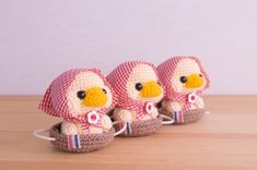 [sold out]Hood duck💓② Crochet Birds, Crochet Mouse, Crochet Animals, Diy Crochet, Crochet Dolls, Crochet Hats, Knitting Paterns, Crochet Amigurumi Free Patterns, Knitting Projects