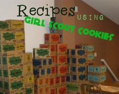 """Cookie """"ham""""burgers, ice cream sandwiches, and more! Girl Scout Leader, Girl Scout Troop, Brownie Girl Scouts, Boy Scouts, Recipe Using Girl Scout Cookies, Girl Scout Cookies Recipes, Cookie Recipes, Yummy Recipes, Cookie Ideas"""