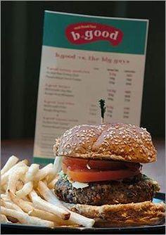 Best burger ever. B.GOOD 255 Washington St, Boston, MA 02108