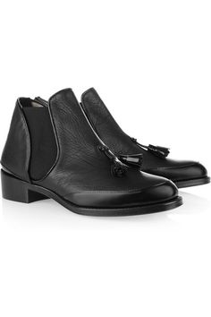 Proenza Schouler Tasseled leather ankle boots