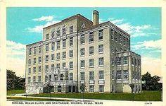 Mineral Wells Texas TX 1928 Mineral Wells Clinic Sanitarium Vintage Postcard