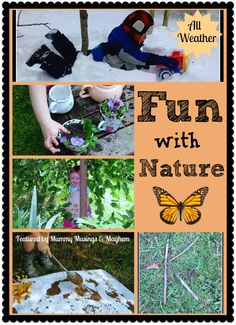 Pinner said: A fantastic Co-Op feature of fun play ideas with nature.no matter what the weather! What are you linking up to The Kid's Co-Op this week? Outside Activities, Creative Activities For Kids, Nature Activities, Learning Activities, Toddler Activities, Outdoor Activities, Kids Learning, Outdoor Learning, Forest School
