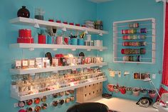 ideas for organizing a craft room
