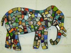 elephant mosaic is by Marie Lloyd