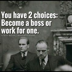 You have 2 choices: Become a boss or work for one. - Learn how I made it to 100K in one months with e-commerce!