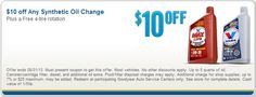 synthetic oil change coupons st louis
