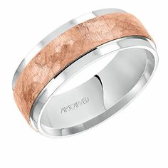 Dynamic ArtCarved white and rose gold wedding ring featuring flat satin finished flat edges. The wedding ring width measures millimeters. This wedding ring is expertly fabricated by ArtCarved who have been making weddings special since This Wedding Bands For Him, Wedding Rings For Women, Rings For Men, Engagement Ring Photos, Wedding Rings Rose Gold, Wedding Jewelry, Jewelry Stores, Men's Jewelry, Jewellery