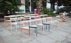 Assemble Studio took over St James Church Garden with 2 (Hundred) is company?, a continually changing installation of 200 chairs