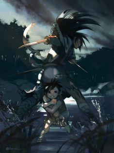 Hyakkimaru, Dororo. Manga Art, Anime Art, Tokyo Ghoul, Anime Bleach, Fandom Crossover, Cartoon Games, Slayer Anime, Darling In The Franxx, I Love Anime