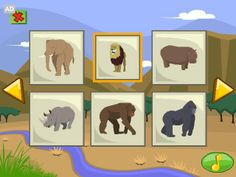 LeapFrog App Center: Flash Cards: Land Animals