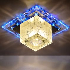 Modern Crystal Ceiling Light For Corridor RGB AC 90-260V Lampada De Led Indoor Lighting Lustre Lumiere Plafond Lamp Luminaria *** Be sure to check out this awesome product.