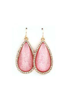 Lovely Rose Colored Earrings