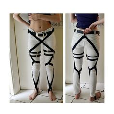 Shingeki No Kyojin Cosplay Reference Pictures ❤ liked on Polyvore featuring pants and cosplay