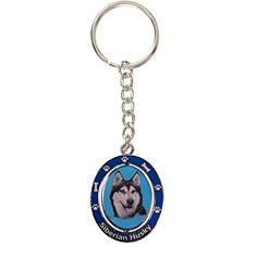 Siberian Husky Key Chain Spinning Pet Key ChainsDouble Sided Spinning Center With Siberian Huskys Face Made Of Heavy Quality Metal Unique Stylish Siberian Husky Gifts >>> Continue to the product at the image link.