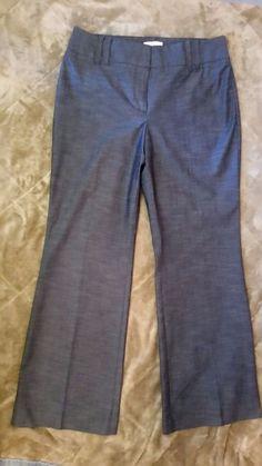 Ann Taylor LOFT Petites  Steel Blue Stretch wide Leg Dress Trousers Pants Sz 8P #AnnTaylorLOFT #DressPants