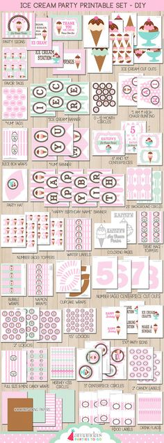 Ice Cream Party Printable - by Amanda's Parties To Go