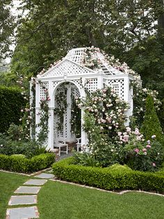 build a lattice sided house for the girls.  Let climbing flowers cover it!