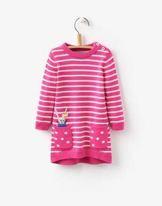 Toddler millicent True Pink Dress   Joules UK