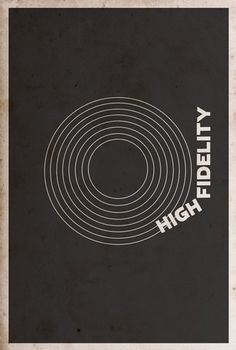 HIGH FIDELITY Minimalist Movie Posters