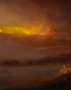 ARTFINDER: Day Into Night by Maurice Sapiro - oil painting on panel