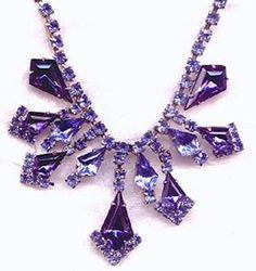 Vintage amethyst and rhinestone necklace. Purple Love, All Things Purple, Purple Hues, Shades Of Purple, Purple Stuff, 50 Shades, Deep Purple, Purple Jewelry, Amethyst Jewelry