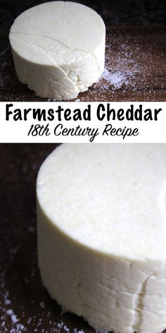 Homemade Farmstead Cheddar from an Century Recipe ~ This historical cheesemaking recipe is simple to make at home with minimal equipment Cheese Recipes Goat Milk Recipes, No Dairy Recipes, Cheese Recipes, Real Food Recipes, Cooking Recipes, Whey Recipes, Amish Recipes, Dutch Recipes, Healthy Recipes