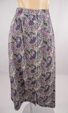 TILLEY ENDURABLES Floral Paisley Liberty Print Skirt $149 Sz M