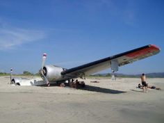 The abandoned plane in the sand, ventanilla Playa, Mexico