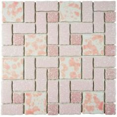 Merola Tile Academy Pink 11-3/4 in. x 11-3/4 in. x 5 mm Porcelain Mosaic Tile FKOTMR41 at The Home Depot - Mobile