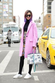 pink, Chanel and a blinged out Birkin. #IreneKim in NYC.