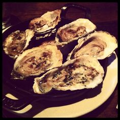 Grilled oysters at Ditch Plains, New York, NY