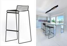HAY Hee bar stool. Материалы: сталь (7 цветов). Размеры: Ш44/43 х Г47/45 х В86/76 см. Высота сиденья: 75/65 см.