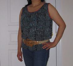 Frou Frou by lovenicky: Ugly Men's shirt to Ladies' top Refashion