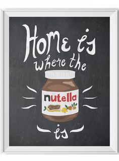 Nutella Art Print Kitchen Themed Art - Am I right? - High-quality inkjet print. - Printed on ultra smooth, luxurious 60lb/229gsm matte paper - Shown in 11x14 - Frame not included - By The Glass Mounta