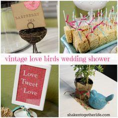 love bird theme wedding | ... wedding shower, I was in, in a BIG way!! Hello, vintage love birds