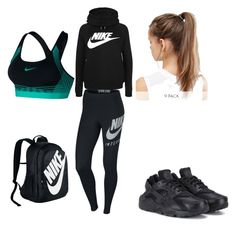 """Sporty"" by devyn-mills on Polyvore featuring NIKE"